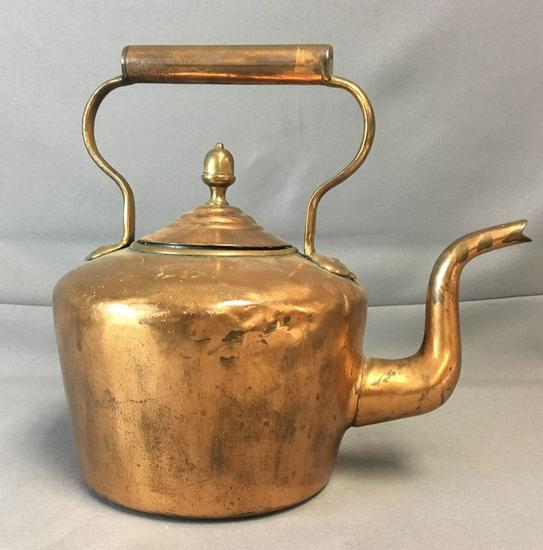 Vintage Copper Tea Pot