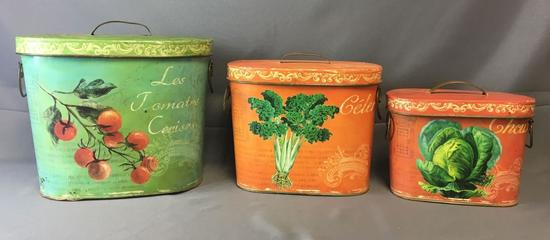 Group of 3 Tin Cans