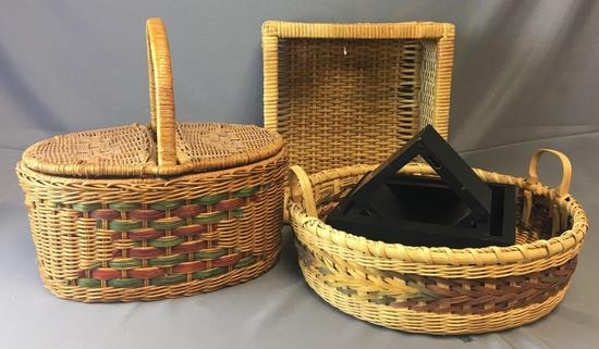Group of Baskets and Shelves