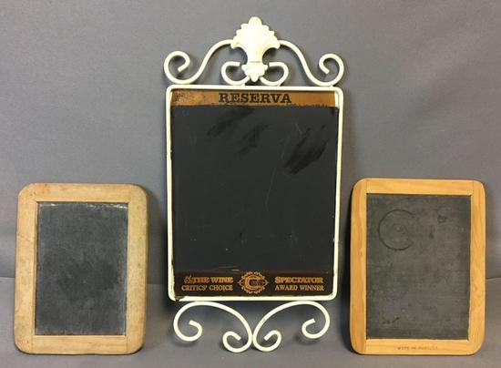 Group of 2 Vintage Chalkboards and more
