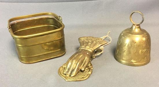 Group of 3 Vintage Brass Decor