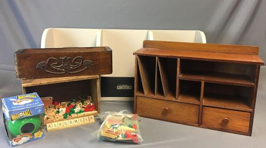 Group of Miscellaneous Wooden Boxes and more