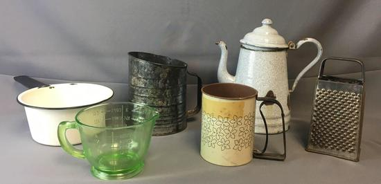 Group of 6 Vintage Kitchen Items