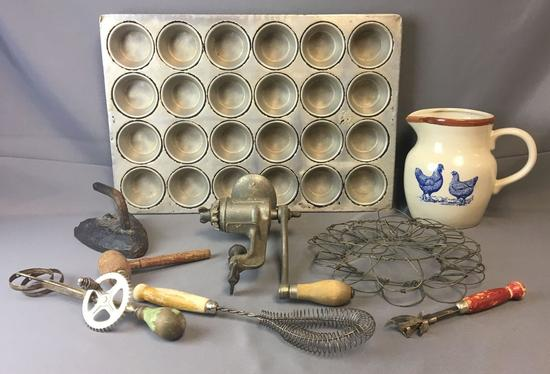 Group of Vintage Kitchen Utensils and more