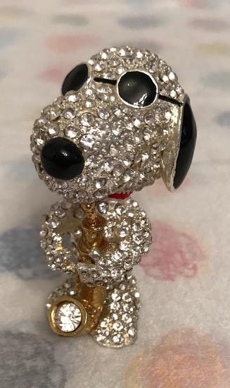 Crystal World Peanuts Jeweled Joe Cool Snoopy