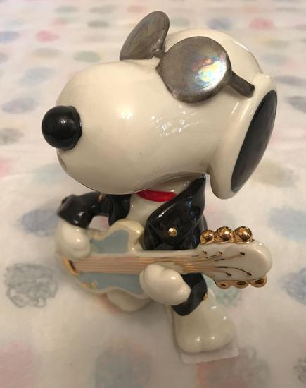Peanuts Lenox Figurine Rockin Snoopy