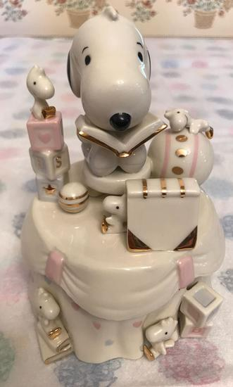 Peanuts Lenox Baby Snoopy Keepsake and Music Box