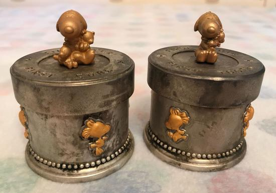 Group of 2 Peanuts Baby Snoopy First Curl and First Tooth boxes