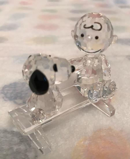 Crystal World Peanuts Charlie Brown and Snoopy