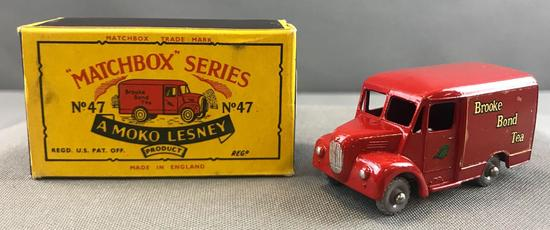 Matchbox No. 47 1 Ton Trojan Van Die Cast Van with Original Box