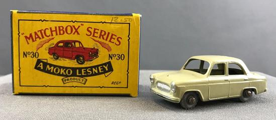 Matchbox No. 30 Ford Prefect die cast vehicle with Original Box