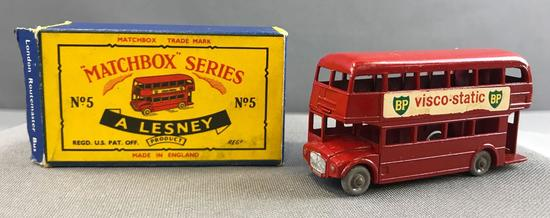 Matchbox No. 5 London Routemaster Bus die cast vehicle with Original Box