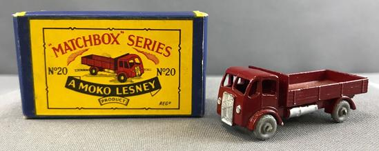 Matchbox No. 20 ERF Truck die cast vehicle with Original Box