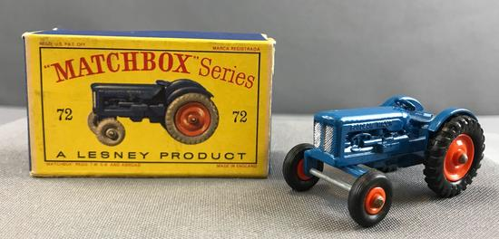 Matchbox No. 72 Fordson Tractor die cast vehicle with Original Box