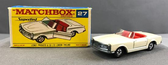 Matchbox Superfast No. 27 Mercedes Benz 230 SL die cast vehicle with Original Box