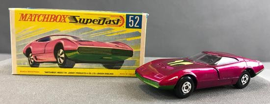Matchbox Superfast No. 52 Dodge Charger MK III die cast vehicle with Original Box