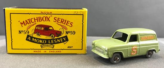 Matchbox No. 59 Ford Thames Van Die Cast Vehicle with Original Box