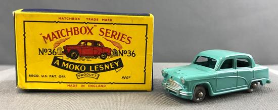 Matchbox No. 36 Austin A50 die cast vehicle with Original Box