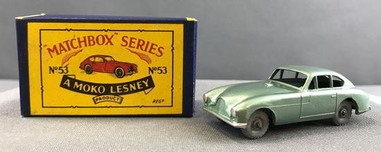 Matchbox No. 53 Aston Martin die cast vehicle with Original Box