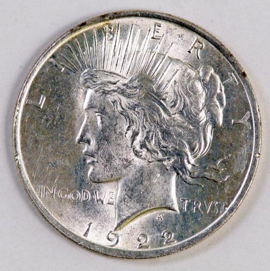 1922 P Peace Silver Dollar.