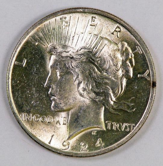 1924 P Peace Silver Dollar.