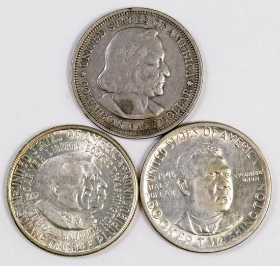 Lot of (3) Early Commemorative Silver Half Dollars.
