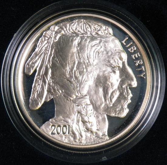 2001 American Buffalo Proof Silver Dollar Commemorative.