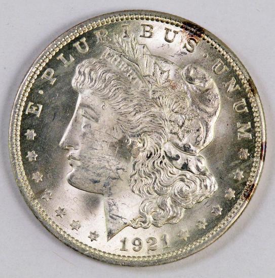 1921 P Morgan Silver Dollar.