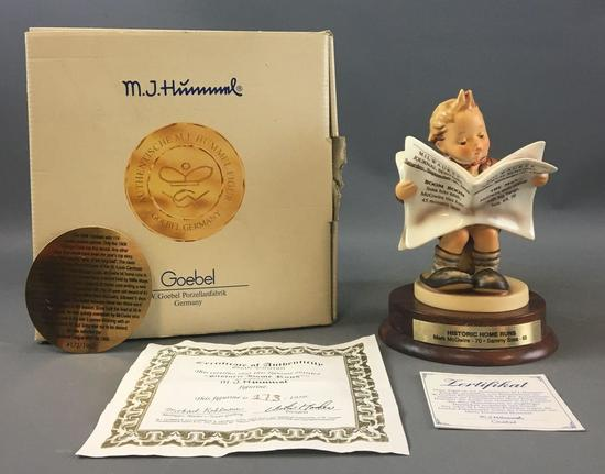 Historical Home Runs Hummel Figurine Numbered with COA in original box