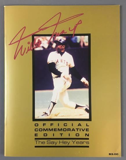 Willie Mays Official commemorative edition book