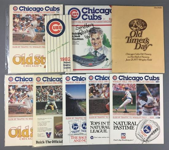 Chicago Cubs 1977 Old Timers Day Program and scorecards