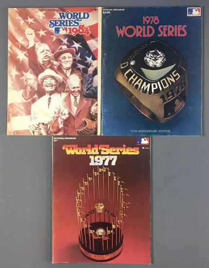 Group of 3 World Series Programs