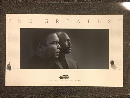 The Greatest Michael Jordan and Muhammad Ali Poster