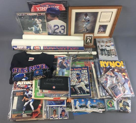 Large collection of Ryne Sandberg Chicago Cubs