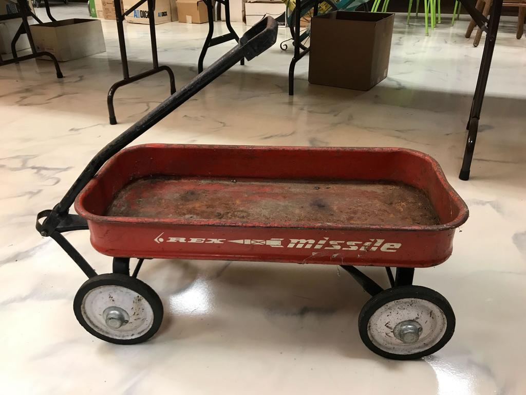 Vintage Rex Missile Red Wagon Art Antiques Collectibles Online Auctions Proxibid