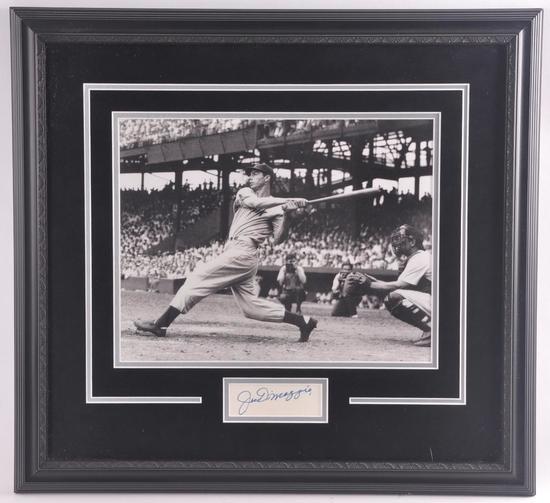 New York Yankee Joe DiMaggio Cut Signature with Photograph and LOA