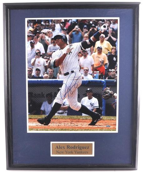 New York Yankee Alex Rodriguez Signed Photograph with PSA DNA LOA