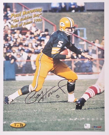 Green Bay Packers Paul Hornung Signed Photograph with COA