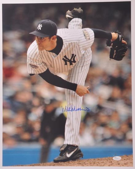 New York Yankee Mike Mussina Signed Photograph with JSA COA