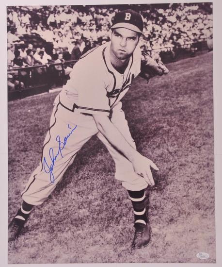 Boston Braves Johnny Sain Signed Photograph with JSA COA