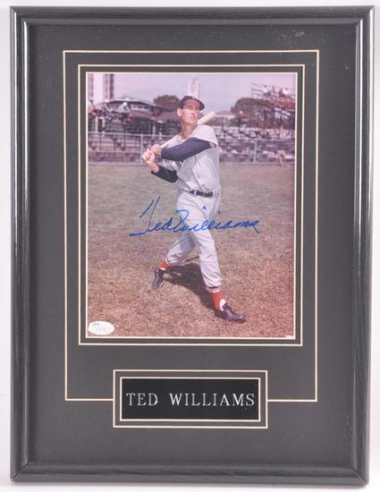 Boston Red Sox Ted Williams Signed Photograph with LOA