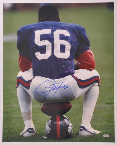 New York Giants Lawerence Taylor Signed Photograph with Steiner COA