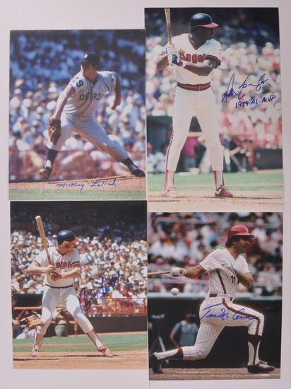 Group of 4 Signed Major League Baseball Players Photograph's