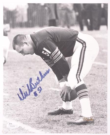 Chicago Bear Dick Butkus Signed Photograph with JSA COA