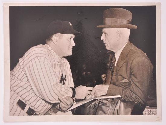 """Best of Luck, Joe"" Clark Griffith and Joe McCarthy Press Photo"