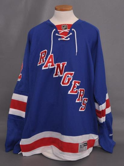 New York Rangers Brian Boyle Signed Jersey with PSA DNA Certification Sticker