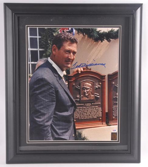 Boston Red Sox Ted Williams Signed Photograph with PSA DNA LOA