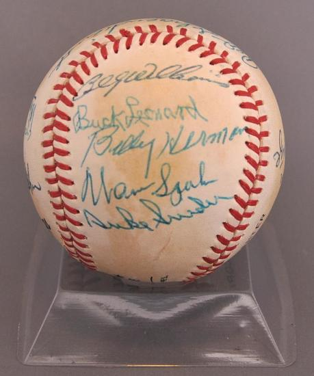 Hall of Famer Signed Baseball with 17 Signatures