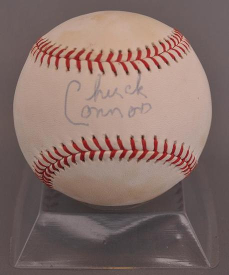 Brooklyn Dodgers Chuck Connors Signed Baseball with JSA LOA