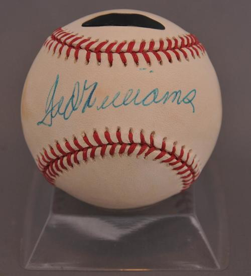 Boston Red Sox Ted Williams Signed Baseball with PSA DNA COA